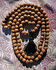 SPECIAL BARGAIN CUSTOM DESIGN TIBETAN BUDDHIST MALA XL 11mm BODHI SEED/BLK ONYX