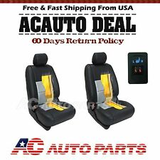 2 Seats Carbon Fiber Universal Car Heated Seat Heater Kit, 1-dial 5-level Switch