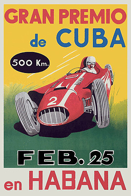 Vintage Français Course Automobile Affiche Pau Années 1950 Sport Rétro Imprimé