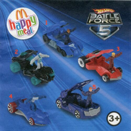 2011 Hot Wheels Battle force 5 Pezzi singoli McDonald/'s MC DONALD/'S HAPPY MEAL