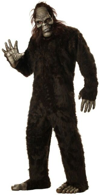 Big Foot Ape Cryptid Sasquatch Dress Up Men Costume One Size