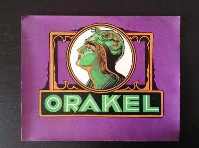 Chromolitho Tabakwerbung Etikett Orakel Das Ganze System StäRken Und StäRken Antike