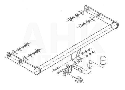 Anhängerkupplung starr+E-Satz 13p Für Ford Focus I Stufenheck 98-05 Kpl