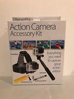 Sunpak Go Pro Action Camera Accessory Kit Head Mount Selfie Wand Float Grip