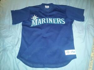 pretty nice 30db9 2b835 Details about SEATTLE MARINERS BATTING PRACTICE BASEBALL JERSEY LARGE