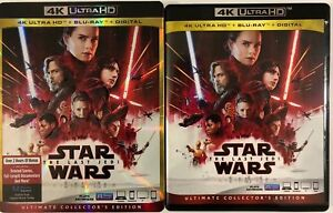 DISNEY-STAR-WARS-THE-LAST-JEDI-4K-ULTRA-HD-BLU-RAY-3-DISC-SET-SLIPCOVER-SLEEVE