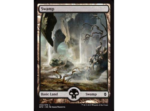 FOIL Full Art Swamp #262 MTG Battle for Zendikar BFZ NM//M!!!