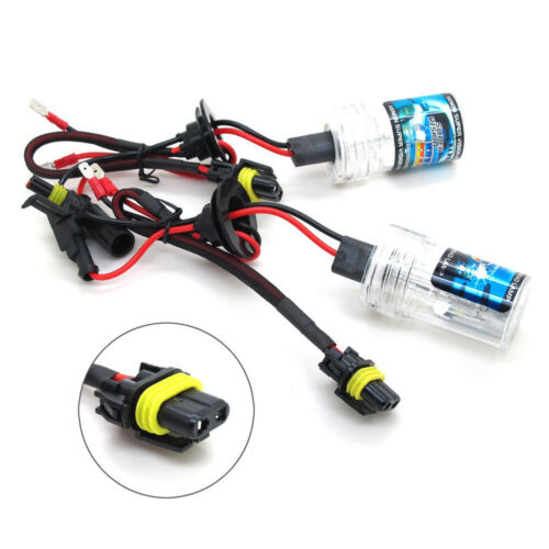 2x XENON H16 5202 HID Bulbs AC 35W Fog Light Replacement Wire adapter All Color