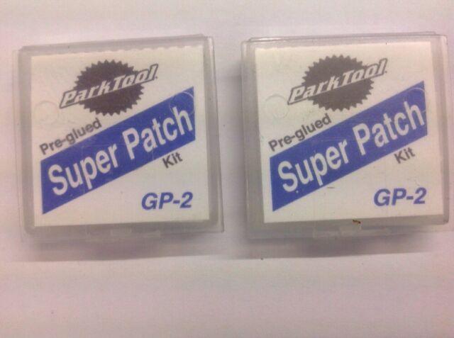 Pack of 5 Kits Park Tool GP-2 Pre-Glued Super Patch Puncture Repair Kits