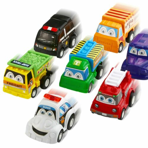 Pull Back Car Set toy for Toddlers boys age 2 3 4 year old Perfect playing gift