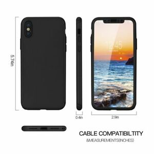 New-HARD-HYBRID-360-CASE-WITH-Bubble-Free-TEMPERED-GLASS-for-Apple-iPhone-XS-Max