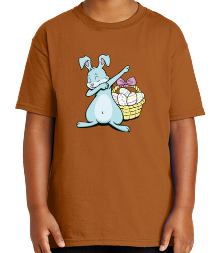 Cute Dabbing Bunny Kid/'s T-shirt Egg basket Easter Dab Tee for Youth 1959C