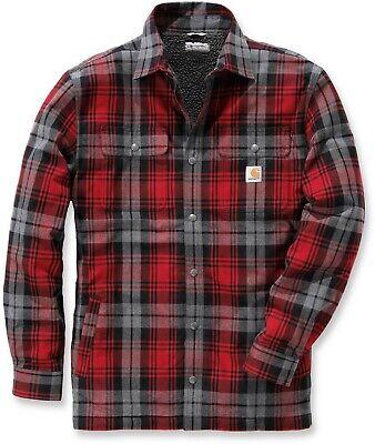 Carhartt Herren Hemdjacke Hubbard Shirt Jacket Dark Crimson