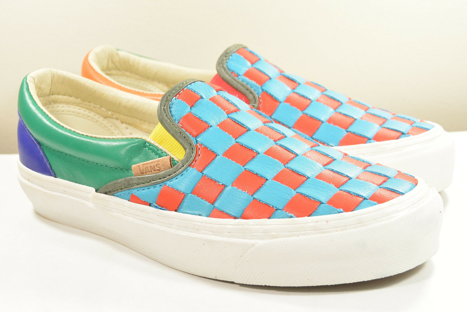 DS 2015 VANS VAULT CHECKERED PAST OG LX SLIP-ON Uomo 4.5 WMN 6 OFF THE WALL