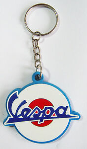 New-rubber-Vespa-Logo-Motorcycle-keychain-keyring-Collectible-Gift-kr147