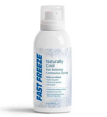 Fast Freeze Continuous Spray Topical Pain Relief Arthritis Muscle Joint Cooling