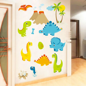 Image Is Loading DIY Dinosaurs Wall Sticker Kids Room Decor Removable