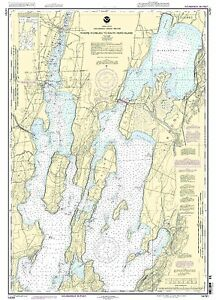 NOAA Chart Riviere Richelieu to South Hero Island 20th Edition 14781