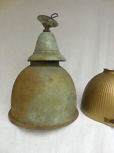 VTG-1920-Curtis-Lighting-Chicago-Industrial-Pendant-Golden-Armor-X-RAY-lamp