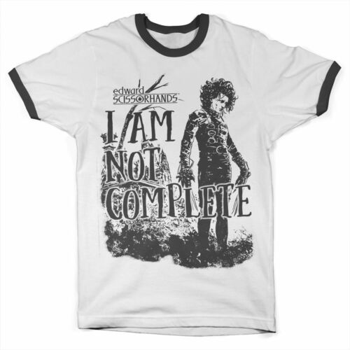 S-XXL Officially Licensed Edward Scissorhands Am Not Complete Ringer T-Shirt