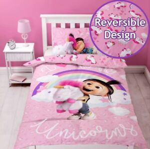Despicable Me Daydream Minions Unicorn Pink Single Duvet Cover Set