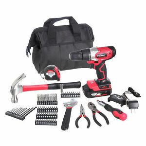 20V Max 3/8-in. Cordless Drill & 70-Piece DIY Home Tool Set Project Kit