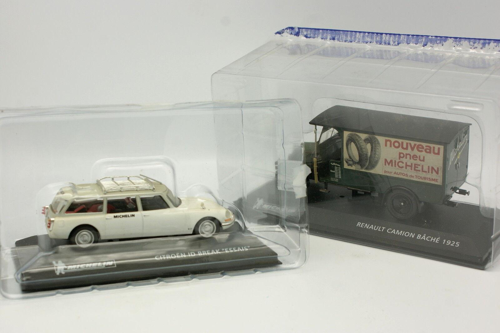 Ixo Norev Press 1 43 - Set of 2 Michelin Citroen Renault