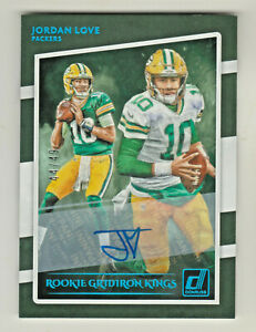 2020-Donruss-ROOKIE-GRIDIRON-KINGS-AUTO-BLUE-JORDAN-LOVE-RC-44-49-Packers-AUTO