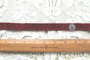"""Antique French Christmas Red Silk Passementerie Braid~L-3+ yards X W-1/2"""""""