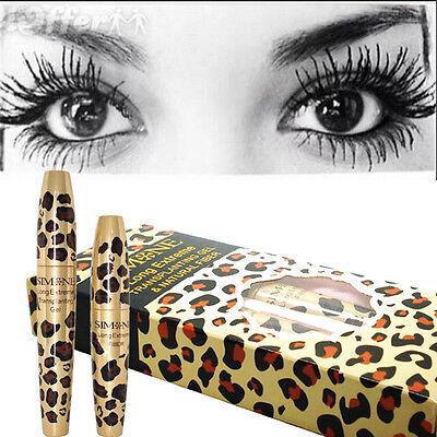 Waterproof 3D Natural Fiber Lash Mascara&Transplanting Gel Set Leopard Case