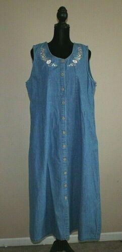 Jumper Denim Vintage Dress Size Blue Jean Womens 9