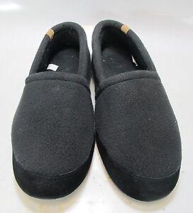ACORN Mens Moc Slip On Black Slippers US L 10.5/11.5 (A10086BLK)