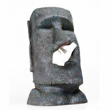 BIG MOAI Tissue dispenser NIP Kleenex Box Rapa Nui Head Bracket Easter Islands