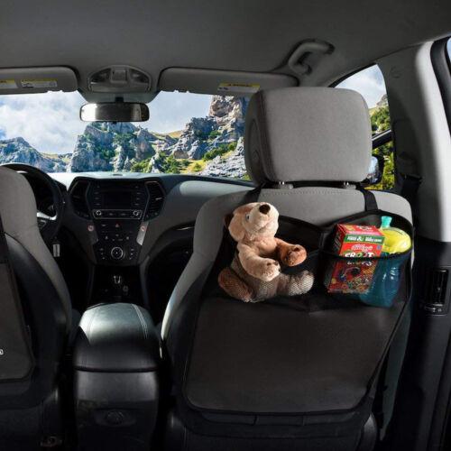 Premium Waterproof Seat Back Protectors 2 Pack - Car Kick Mats with Odor Free