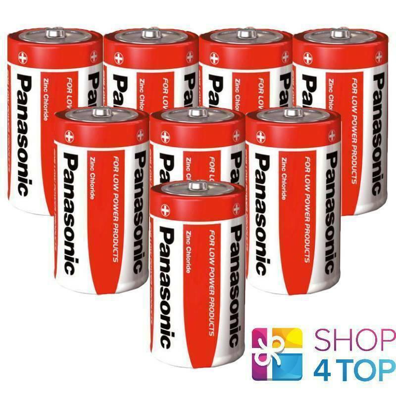 8 Panasonic Zinc Carbon D LR20 Batteries 1.5V Mono R20 MN1300 AM1 E95 2021 NEW