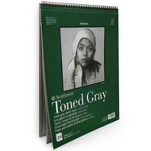 Strathmore-400-Series-Wiro-Toned-Gray-Sketchbook-24-Sheets-11-x-14-412-111
