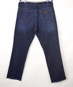 Wrangler Hommes TEXAS STRETCH Slim Jeans Jambe Droite Taille W38 L32 BDZ699