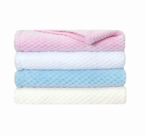 Personalised Embroidered Waffle Blanket Super Soft  Baby Boy Girl Fast Dispatch!