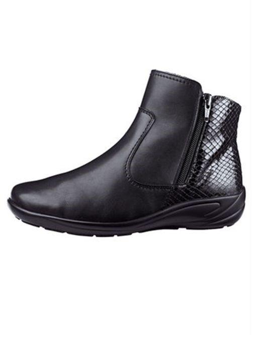 Zapatos especiales con descuento SCHUHE DAMENSCHUHE STIEFELETTE STIEFEL SCHWARZ LEDER SEMLER Gr 8 ( 42 ) WEITE K