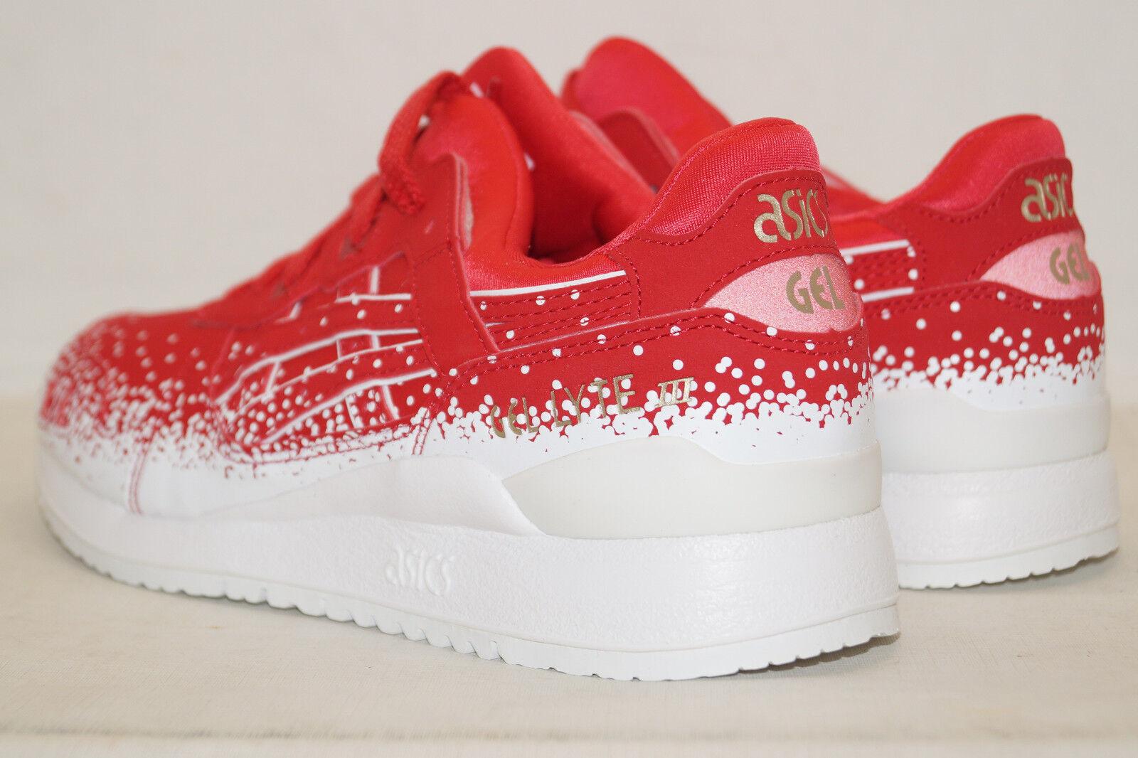 Asics Asics Asics Gel-Lyte III UE 37 UK 4 Femmes Wmns hy6b9 Rouge Blanc Baskets Chaussures De Sport 5b2896