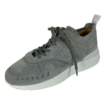 C71 sneakers donna TOD/'S SPORTIVO suede blue frange shoes women