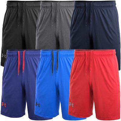 NWT Mens UNDER ARMOUR Heat Gear Loose Fit Pocket Shorts Red Blue Gray M L XL XXL