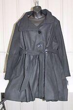 Steve Madden Women's Plus Drama Coat,Belted,Black,Size 2X,NWT
