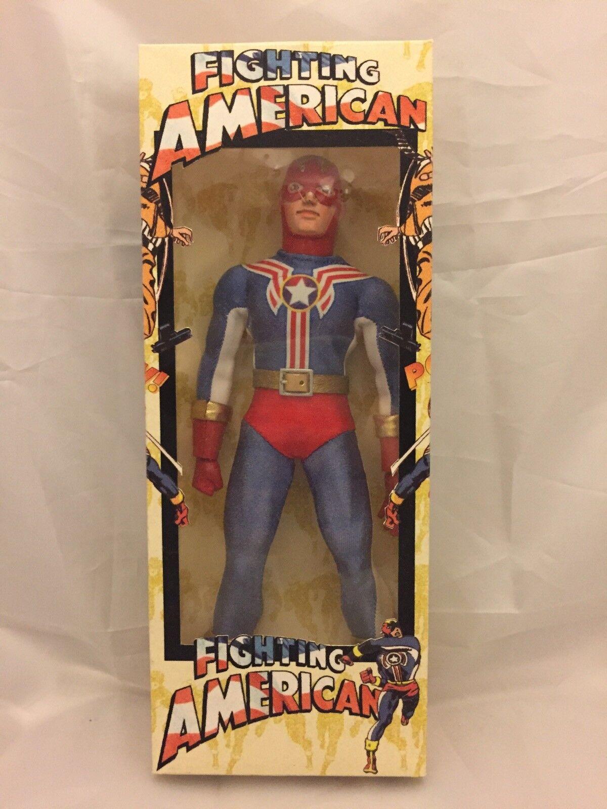 "Fighting American Classic Custom Mego 8"" Figure MIB Simon & Kirby Captain"