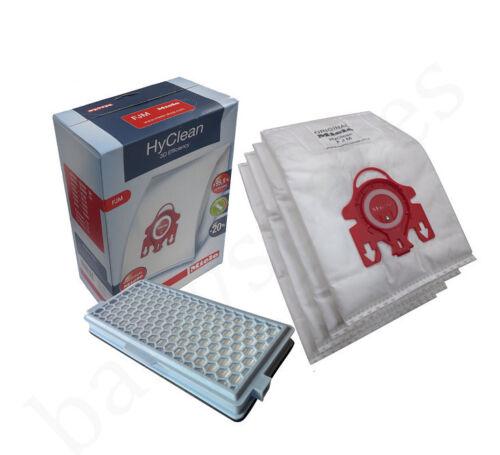 Genuine Miele FJM 3D efficienza Sacchetti Polvere /& AH50 HEPA Filtro S6210 S6220 S6240