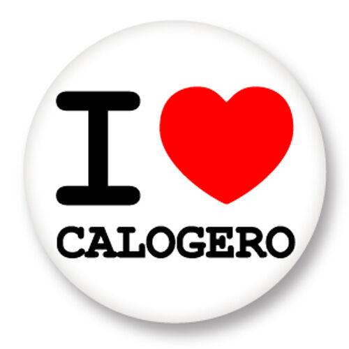Pin Button Badge Ø38mm ♥ I Love You j/'aime Calogero