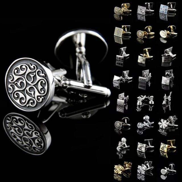 High Quality Lot Vintage Mens Wedding Party Smooth Cufflinks Square Cuff Links