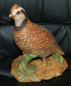 Holland-Mold-Quail-Bird-Pottery-Ceramic-Handpainted-Figural-Statue-8-5-034-x6-75-034