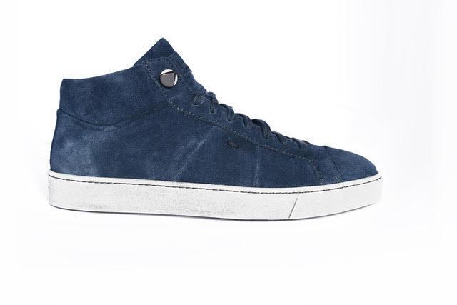Calzado deportivo masculino santoni, de terciopelo alto y azul (31 su)