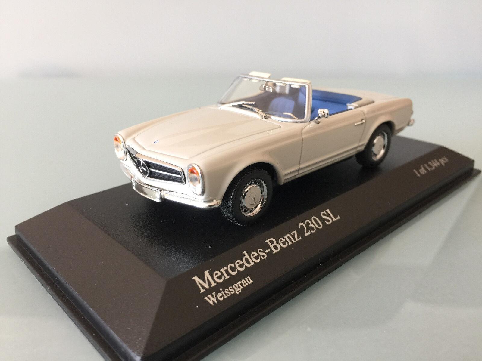 1 43 Minichamps Mercedes Benz 230 SL, 1965 , Weissgrau